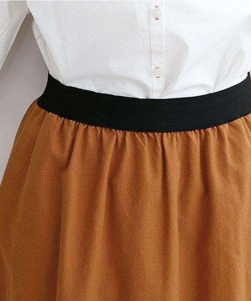 merlot(メルロー)/【IKYU】コットンリネンバイカラーギャザースカート/00010012-939210143081_img09