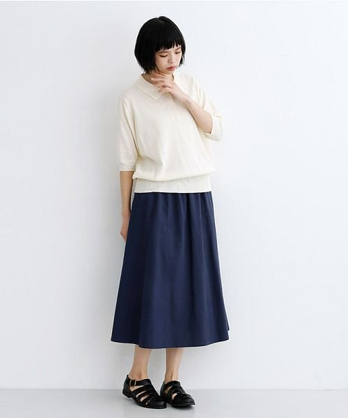 merlot(メルロー)/【IKYU】コットンリネンバイカラーギャザースカート/00010012-939210143081_img12