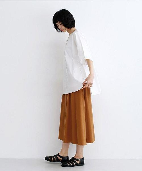 merlot(メルロー)/【IKYU】コットンリネンバイカラーギャザースカート/00010012-939210143081_img13