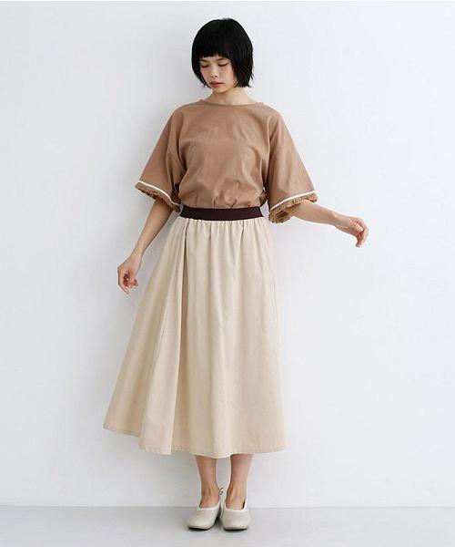 merlot(メルロー)/【IKYU】コットンリネンバイカラーギャザースカート/00010012-939210143081_img15