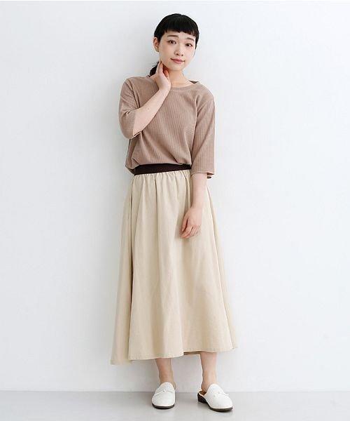 merlot(メルロー)/【IKYU】コットンリネンバイカラーギャザースカート/00010012-939210143081_img16