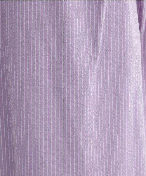 merlot(メルロー)/ストライプ柄サイドスリットシャツワンピース/00010012-939210153189_img14