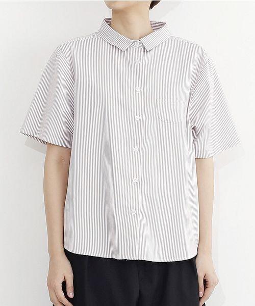 merlot(メルロー)/ミニポケット半袖シャツ/00010012-939220033059_img01