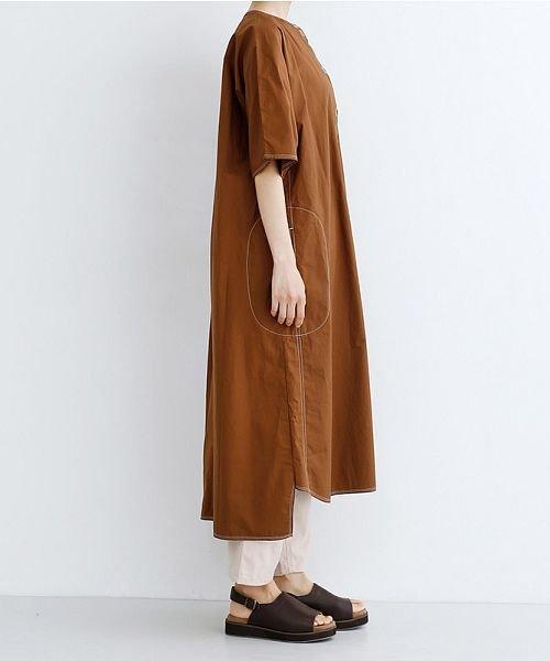 merlot(メルロー)/【IKYU】配色ステッチノーカラーシャツワンピース/00010012-939220143107_img03