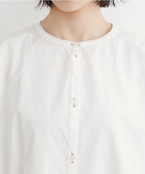 merlot(メルロー)/【IKYU】配色ステッチノーカラーシャツワンピース/00010012-939220143107_img04