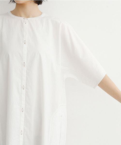 merlot(メルロー)/【IKYU】配色ステッチノーカラーシャツワンピース/00010012-939220143107_img05