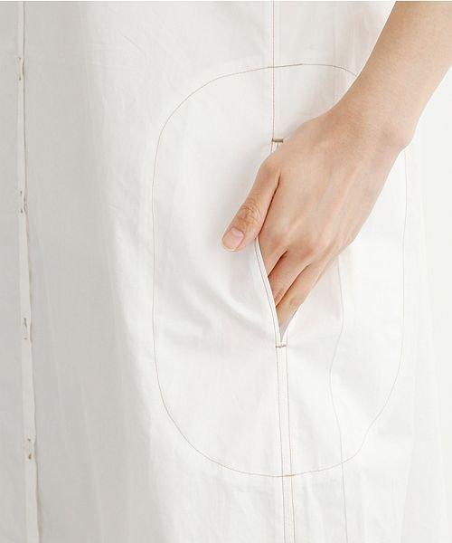 merlot(メルロー)/【IKYU】配色ステッチノーカラーシャツワンピース/00010012-939220143107_img07