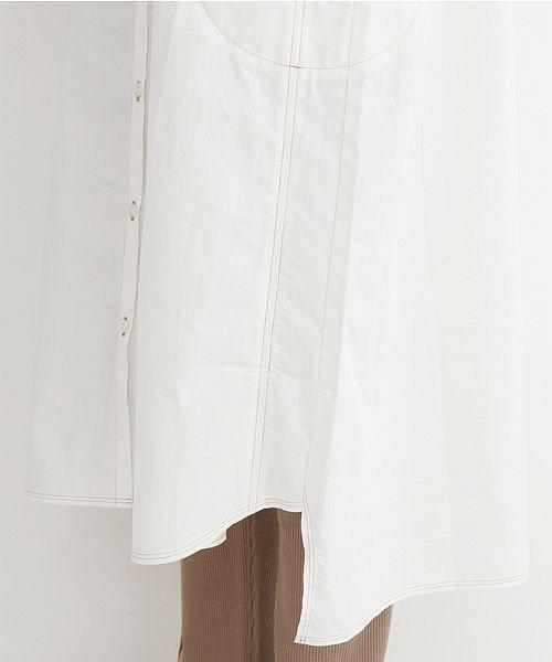merlot(メルロー)/【IKYU】配色ステッチノーカラーシャツワンピース/00010012-939220143107_img08