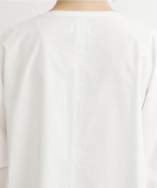 merlot(メルロー)/【IKYU】配色ステッチノーカラーシャツワンピース/00010012-939220143107_img09