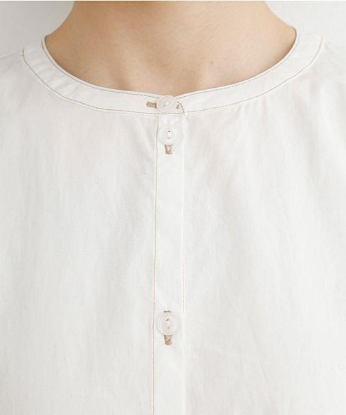 merlot(メルロー)/【IKYU】配色ステッチノーカラーシャツワンピース/00010012-939220143107_img11