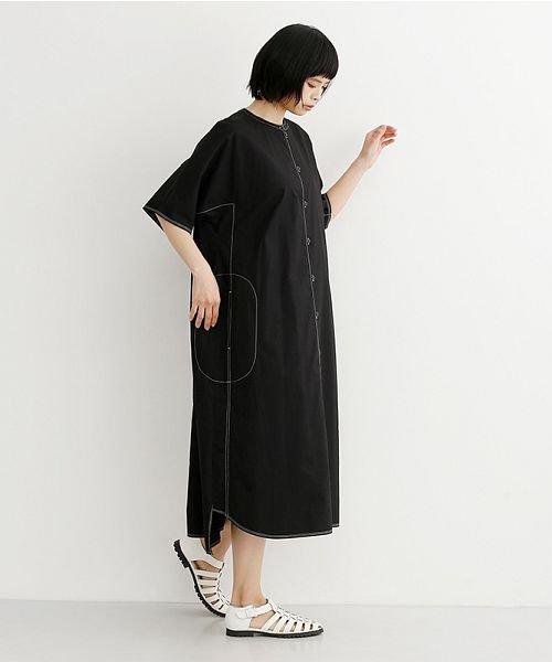 merlot(メルロー)/【IKYU】配色ステッチノーカラーシャツワンピース/00010012-939220143107_img12