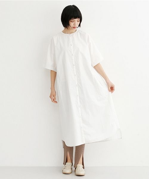 merlot(メルロー)/【IKYU】配色ステッチノーカラーシャツワンピース/00010012-939220143107_img14
