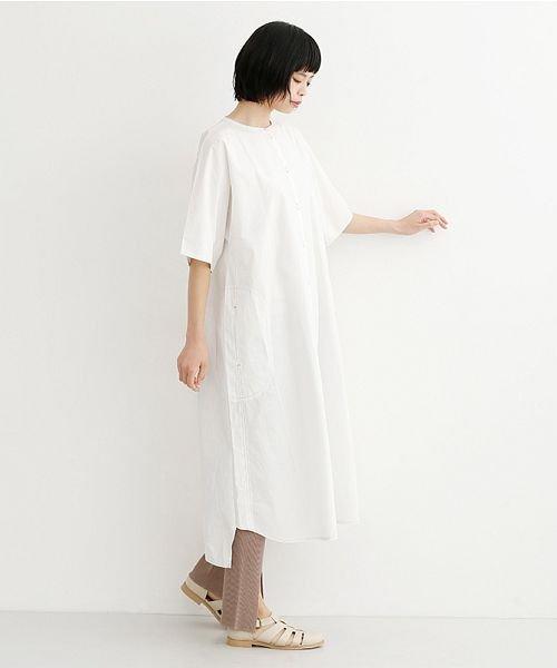 merlot(メルロー)/【IKYU】配色ステッチノーカラーシャツワンピース/00010012-939220143107_img15