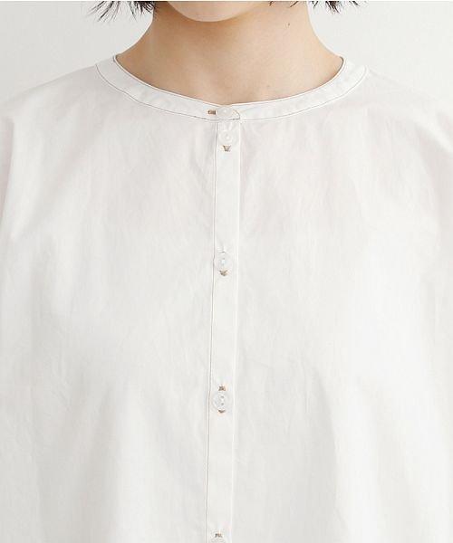 merlot(メルロー)/【IKYU】配色ステッチノーカラ―シャツ/00010012-939220143186_img04