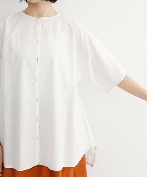 merlot(メルロー)/【IKYU】配色ステッチノーカラ―シャツ/00010012-939220143186_img05