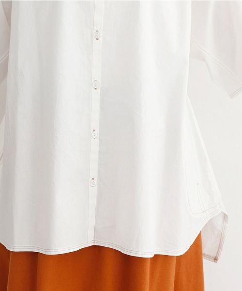 merlot(メルロー)/【IKYU】配色ステッチノーカラ―シャツ/00010012-939220143186_img06