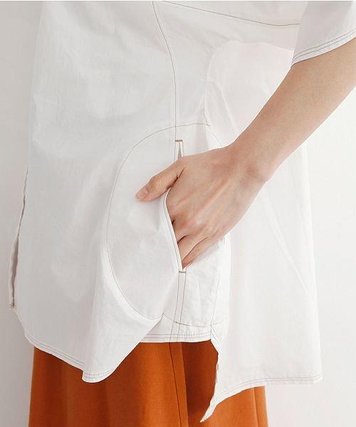 merlot(メルロー)/【IKYU】配色ステッチノーカラ―シャツ/00010012-939220143186_img08