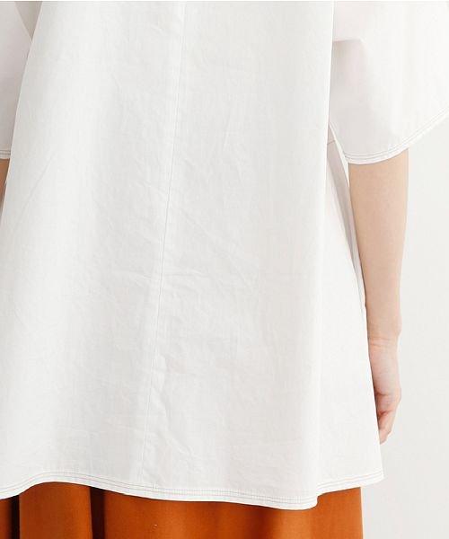merlot(メルロー)/【IKYU】配色ステッチノーカラ―シャツ/00010012-939220143186_img10