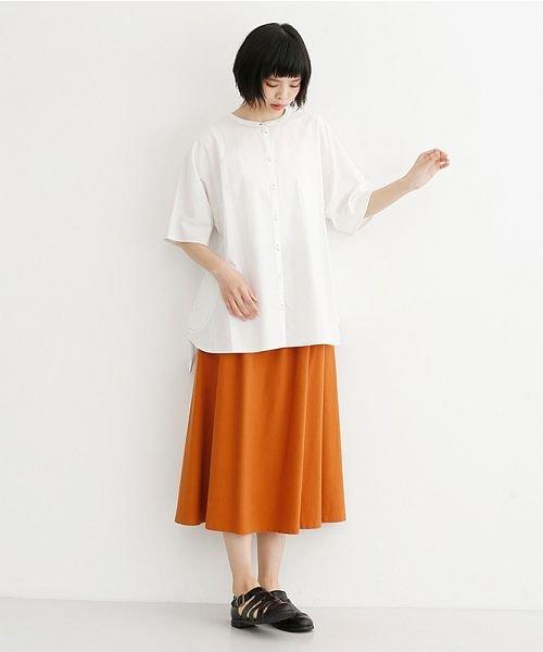 merlot(メルロー)/【IKYU】配色ステッチノーカラ―シャツ/00010012-939220143186_img14
