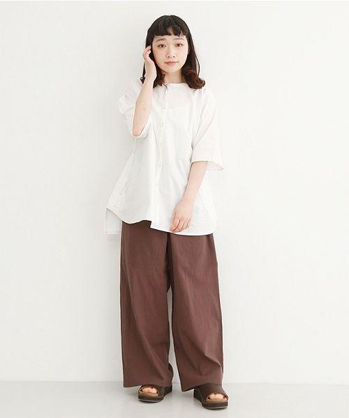 merlot(メルロー)/【IKYU】配色ステッチノーカラ―シャツ/00010012-939220143186_img15