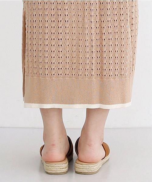 merlot(メルロー)/配色ライン透かし編みニットスカート/00010012-939230022917_img04
