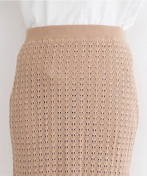 merlot(メルロー)/配色ライン透かし編みニットスカート/00010012-939230022917_img05