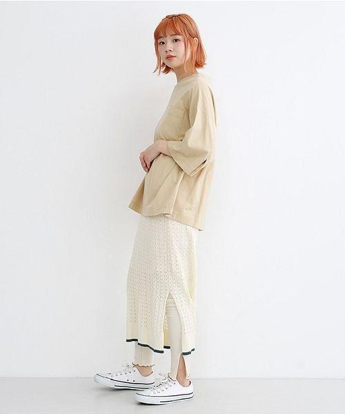 merlot(メルロー)/配色ライン透かし編みニットスカート/00010012-939230022917_img13