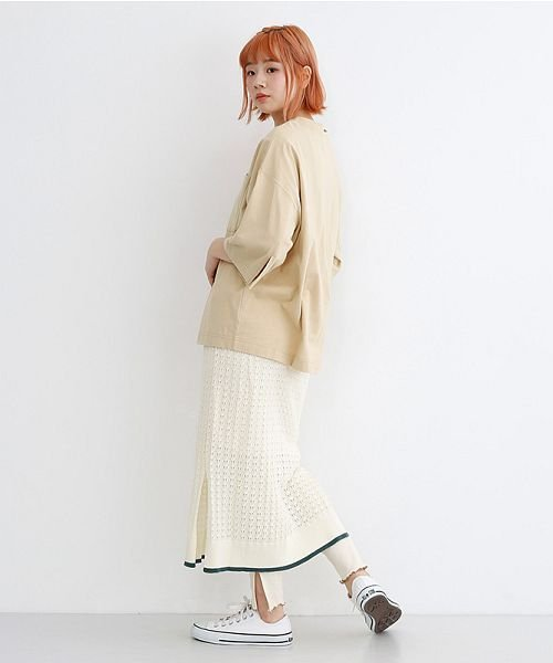 merlot(メルロー)/配色ライン透かし編みニットスカート/00010012-939230022917_img14