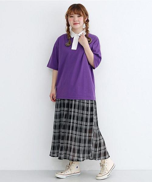 merlot(メルロー)/カラーラガーTシャツ/00010012-939230032927_img15
