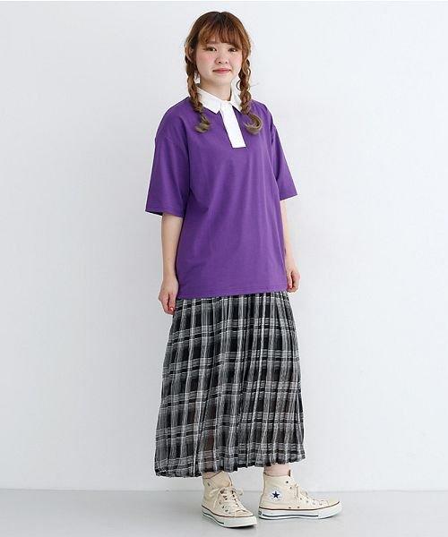 merlot(メルロー)/カラーラガーTシャツ/00010012-939230032927_img16