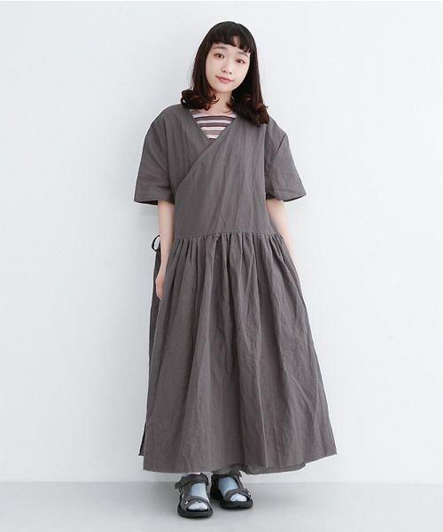 merlot(メルロー)/【IKYU】リネンミックスカシュクールギャザーワンピース/00010012-939230032993_img13