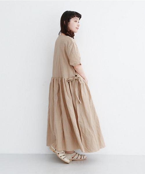 merlot(メルロー)/【IKYU】リネンミックスカシュクールギャザーワンピース/00010012-939230032993_img15