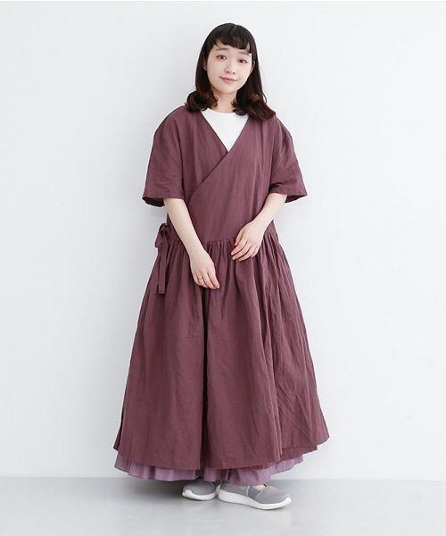 merlot(メルロー)/【IKYU】リネンミックスカシュクールギャザーワンピース/00010012-939230032993_img16