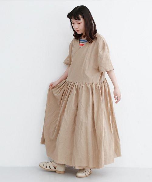 merlot(メルロー)/【IKYU】リネンミックスカシュクールギャザーワンピース/00010012-939230032993_img18