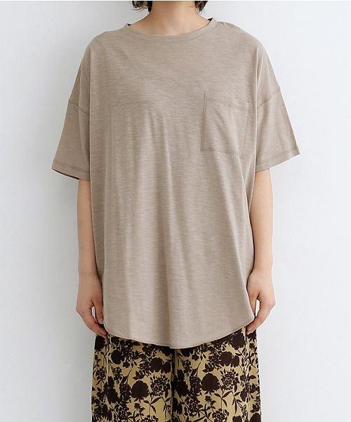 merlot(メルロー)/ビッグシルエットラウンドヘムTシャツ/00010012-939230033196_img01