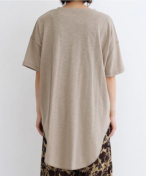 merlot(メルロー)/ビッグシルエットラウンドヘムTシャツ/00010012-939230033196_img03