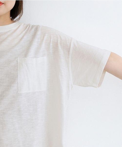 merlot(メルロー)/ビッグシルエットラウンドヘムTシャツ/00010012-939230033196_img05