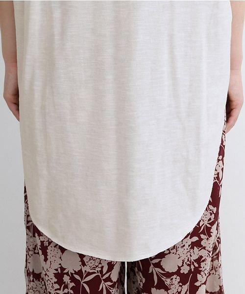 merlot(メルロー)/ビッグシルエットラウンドヘムTシャツ/00010012-939230033196_img10