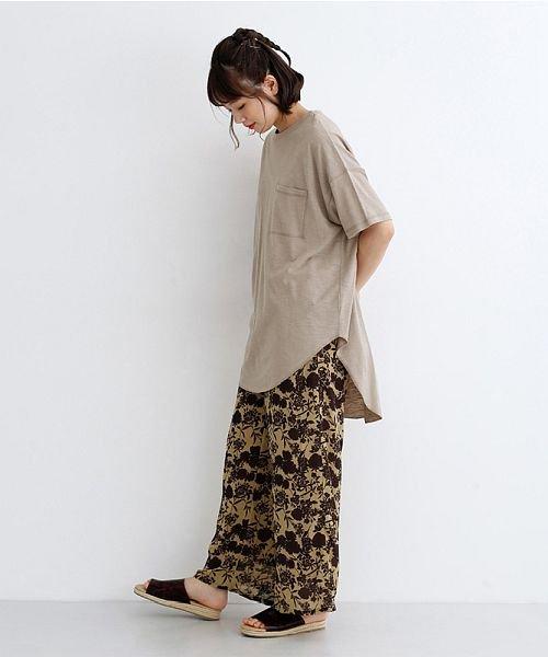 merlot(メルロー)/ビッグシルエットラウンドヘムTシャツ/00010012-939230033196_img15