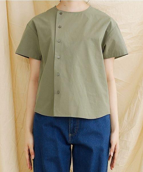 merlot(メルロー)/【IKYU】アシンメトリーボタンシャツ/00010012-939230062994_img01