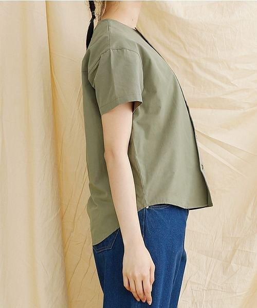 merlot(メルロー)/【IKYU】アシンメトリーボタンシャツ/00010012-939230062994_img02