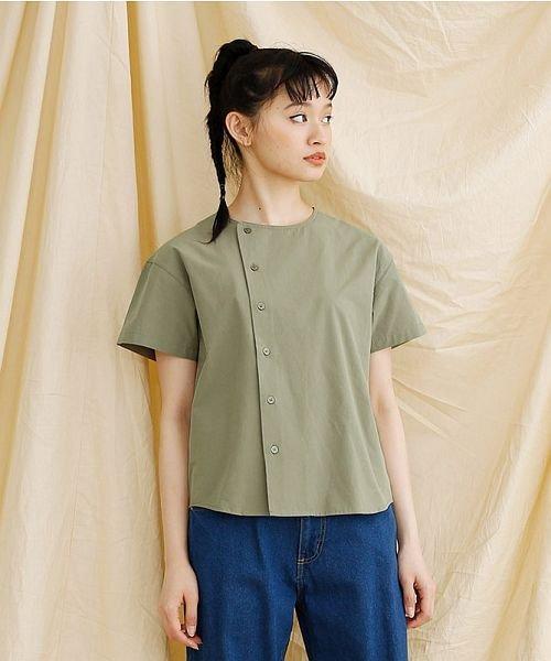 merlot(メルロー)/【IKYU】アシンメトリーボタンシャツ/00010012-939230062994_img17