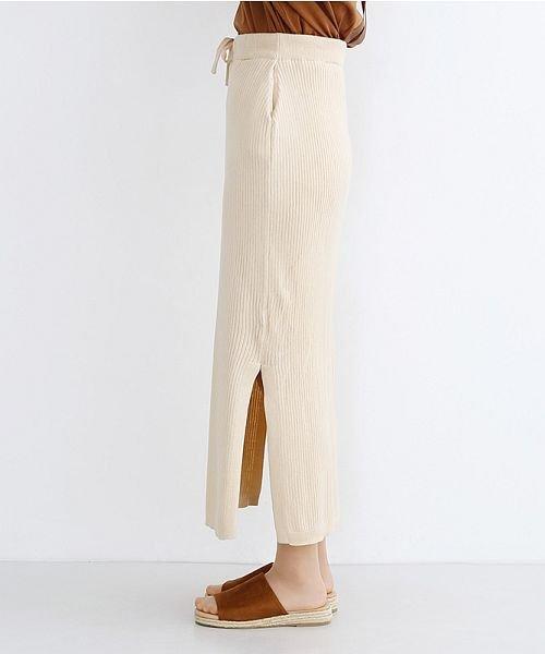 merlot(メルロー)/サイドスリットリブコットンニットスカート/00010012-939230122955_img02