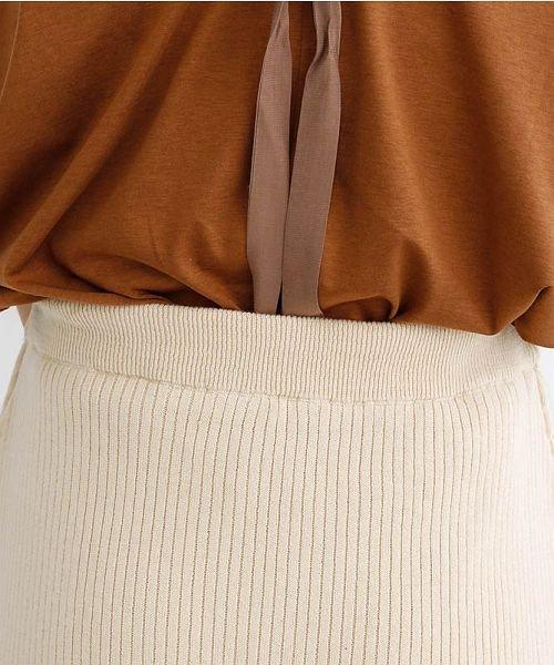 merlot(メルロー)/サイドスリットリブコットンニットスカート/00010012-939230122955_img08