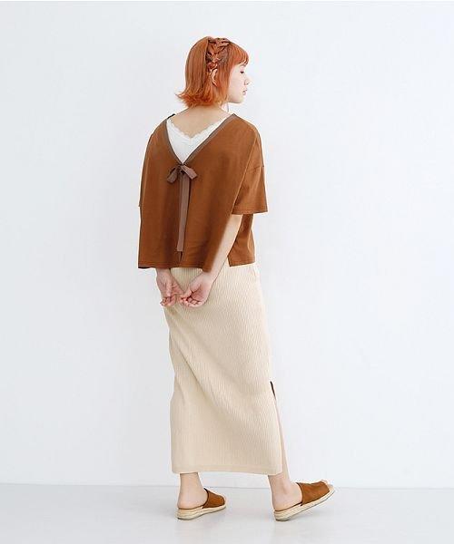 merlot(メルロー)/サイドスリットリブコットンニットスカート/00010012-939230122955_img13