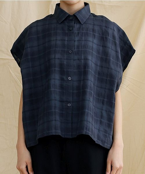 merlot(メルロー)/【IKYU】オーバーシルエットチェック織り柄シャツ/00010012-939230143077_img01