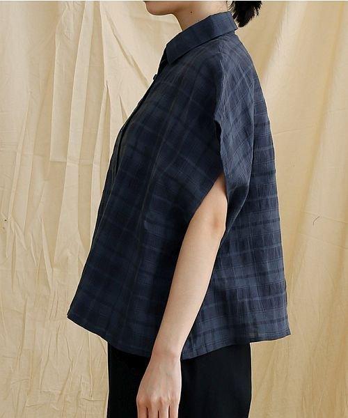 merlot(メルロー)/【IKYU】オーバーシルエットチェック織り柄シャツ/00010012-939230143077_img02