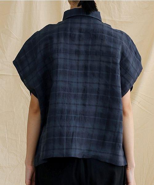 merlot(メルロー)/【IKYU】オーバーシルエットチェック織り柄シャツ/00010012-939230143077_img03