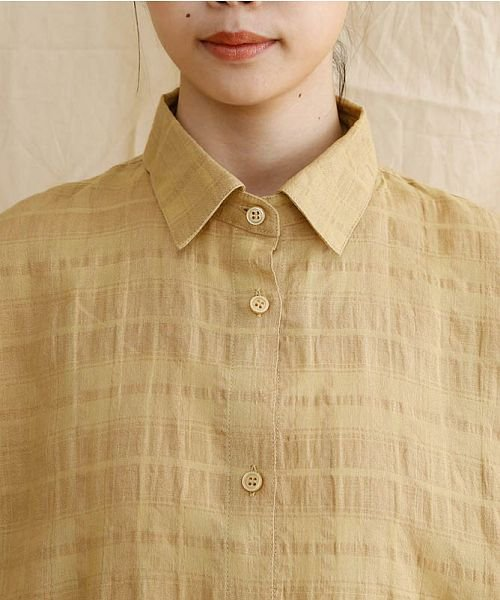 merlot(メルロー)/【IKYU】オーバーシルエットチェック織り柄シャツ/00010012-939230143077_img04