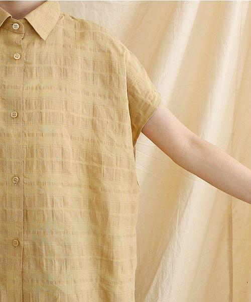 merlot(メルロー)/【IKYU】オーバーシルエットチェック織り柄シャツ/00010012-939230143077_img05